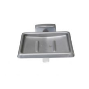 Britex Stainless Steel Soap Dish with Drain - Commercial Washroom