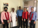 NZ High Commission meets Elan from Elan Hygiene Solutions